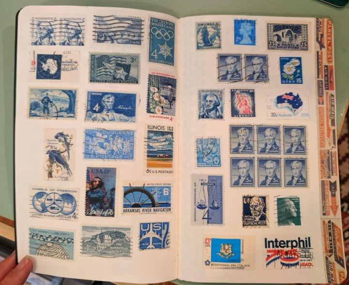 postage stamp book