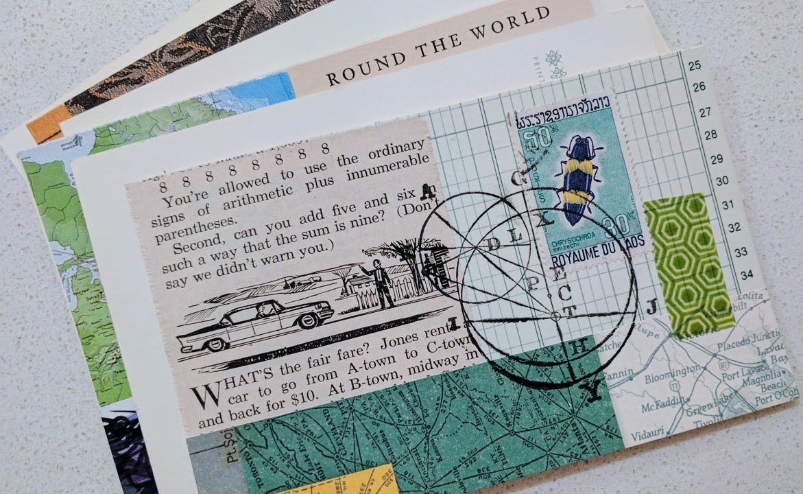 index card art
